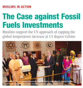 Islamic Horizons COP21 and divestment