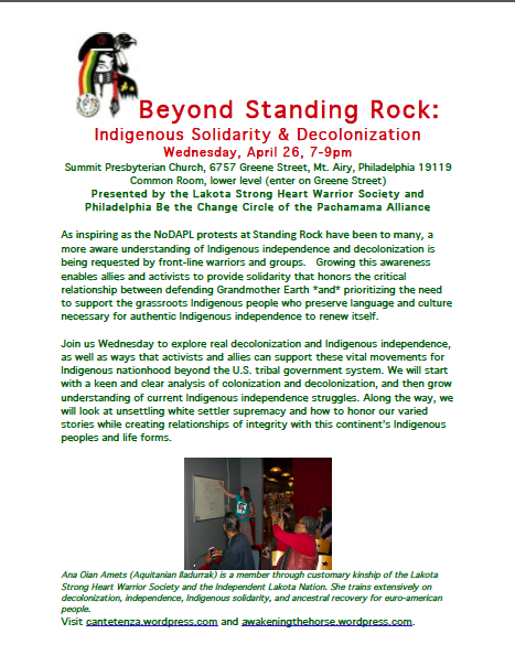 Beyond Standing Rock flyer image
