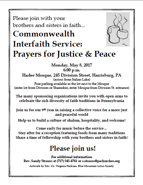 9th annual Commonwealth Interfaith Service
