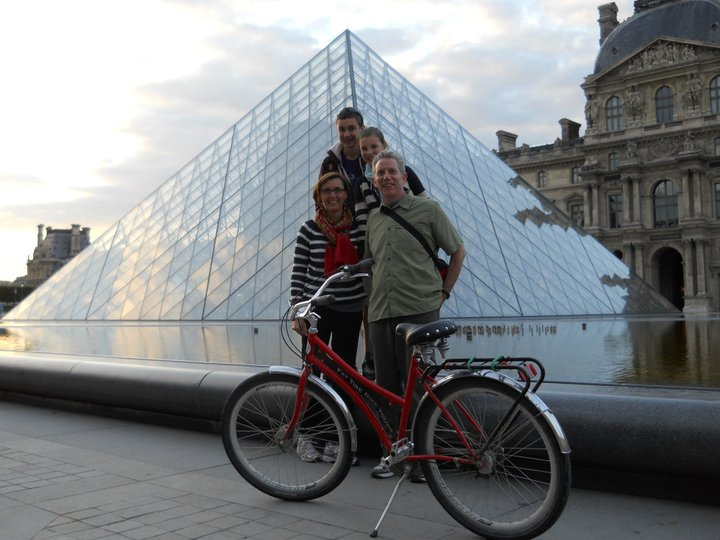 Ted and family in Paris