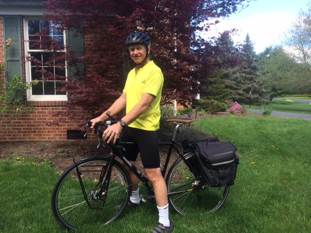 Ed Prince with panniers