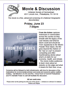 from the ashes flier image - Germantown